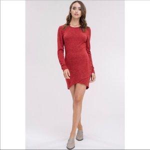 Petal Hem Red Dress